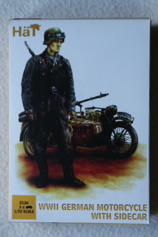 HaT 1/72 HAT8126 German Motorcycles with Sidecar(WW2)